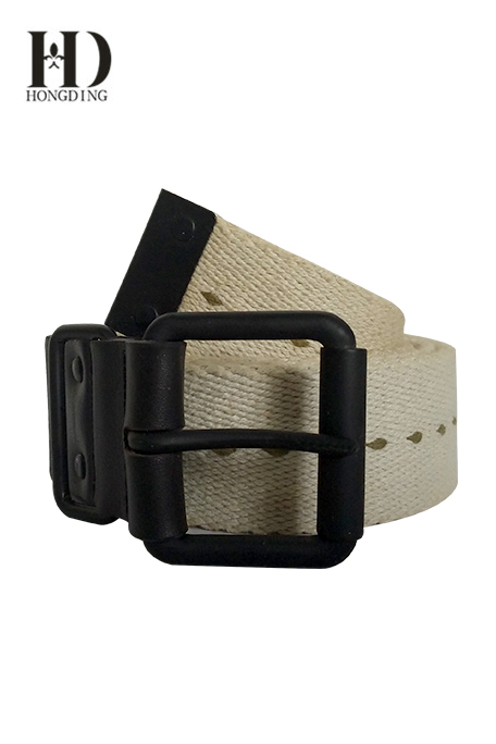 Webbing Belts in Black Roller Buckle