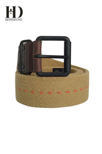 Webbing Belts in Black Buckle with Ring