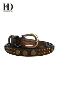 Designer handmade pu belts for women
