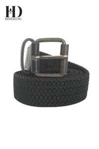 Mens Black Fabric Belt