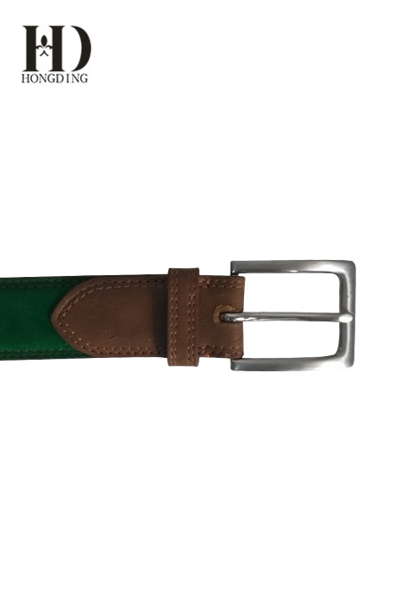 Green Faux leather Belt For Men