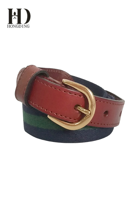 Mens Fabric Belt with Dring