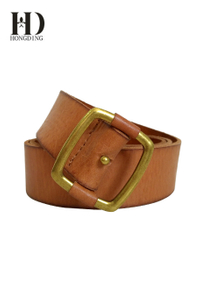 Stylish tan leather belts for women