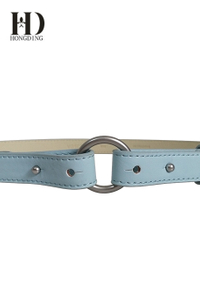 Candy Synthetic Leather Women Skinny Butterfly Waist Belt