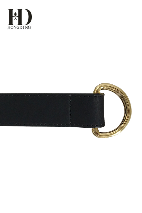 Mens Leather Belt with D-Ring