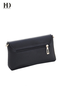 HongDing Black Soft High-Quality PU Leather Shoulder-Bags with Fashion Lock for Women