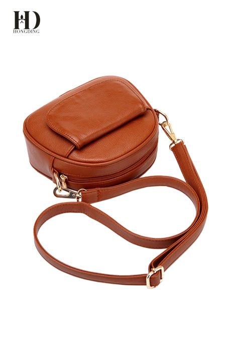 HongDing Brown Fashion High Quality PU Leather Shoulder Bags for Women