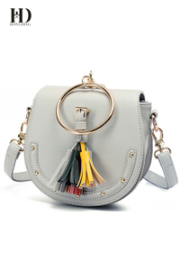 HongDing Leisure All-Match Shoulder Bags PU Leather Handbags With Tassel Cross-Body Bags For Women