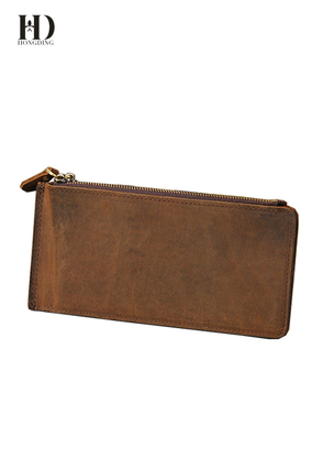High Quality Crazy Horse Leather Wallets for Men