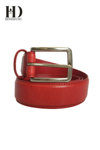 Men's Leather Belt with Stretch