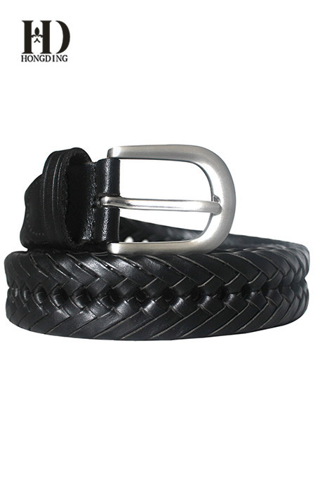 Black Braided Belts for Men