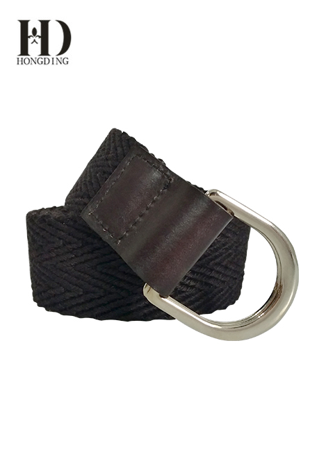 Men's Fabric Stretch Belt With D-ring Buckle