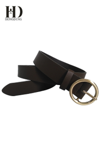 Brown vegan leather belts for women